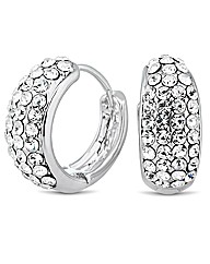 Jon Richard Pave Crystal Hoop Earring