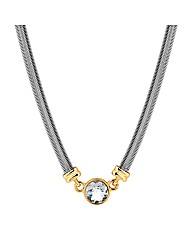 Jon Richard Two Tone Crystal Necklace