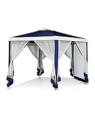 Hexagonal Garden Gazebo with Mesh Panels