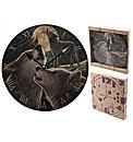 Fantasy Lisa Parker Wolf Song Wall Clock