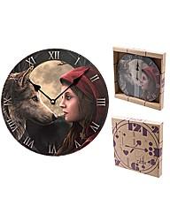 Moon Struck Wolf Design Wall Clock