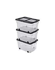 45 L Wheeled Plastic Storage Box - 3
