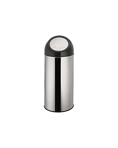 Image of 45 Litre Push Top Kitchen Bin - Silver.