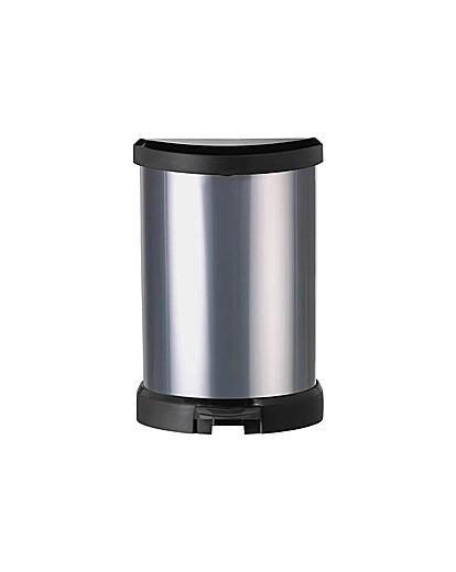 Image of Curver 20L Deco Bin - Silver.