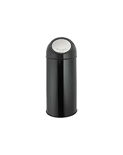 Image of 45 Litre Push Top Kitchen Bin - Black.
