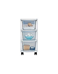 3 Drawer Slim Tower Plastic Storage Unit