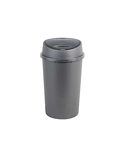 Image of 45 Litre Touch Top Kitchen Bin - Silver.