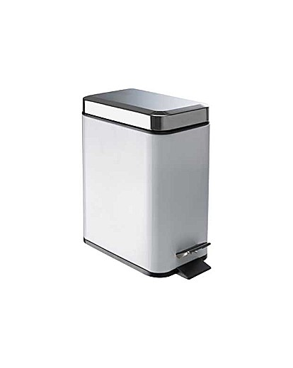 Image of 5 Litre Slim Line Bin - White