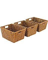 Set of 3 Seagrass Storage Baskets