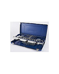 Folding Double Burner and Grill
