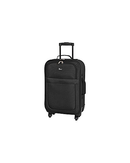 Small 4 Wheel Soft Suitcase  Black