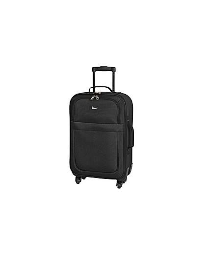 Small 4 Wheel Soft Suitcase  Black