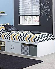 Declan Cabin Bed - White.