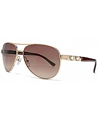 Guess Stud Detail Aviator Sunglasses
