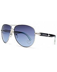 Guess Diamante Heart Aviator Sunglasses