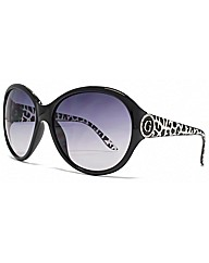 Guess Animal Temple Detail Sunglasses