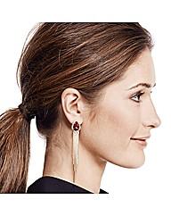 Mood Red Peardrop Tassel Earring