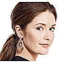 Mood Crystal Hematite Chandelier Earring