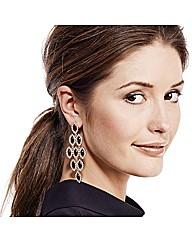 Mood Red Navette Chandelier Earring