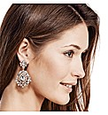 Mood Luxe Cluster Stone Flower Earring