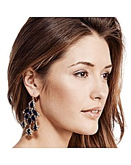Mood Statement Blue Chandelier Earring