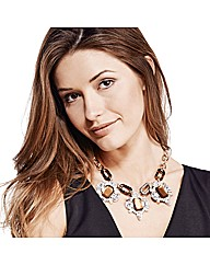 Mood Tortoiseshell Effect Drop Necklace