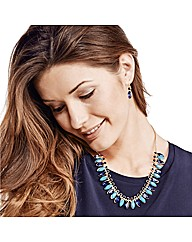 Mood Blue Navette Stone Jewellery Set