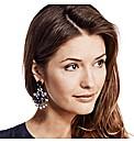 Mood Luxe Decorative Blue Drop Earring