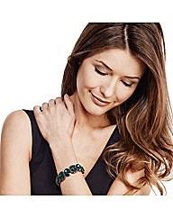 Mood Luxe Green Jewel Stretch Bracelet