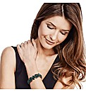 Mood Luxe Green Jewel Stretch Bracelet