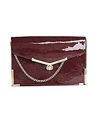 Juno Aubergine Clutch Bag