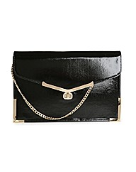 Juno Black Clutch Bag