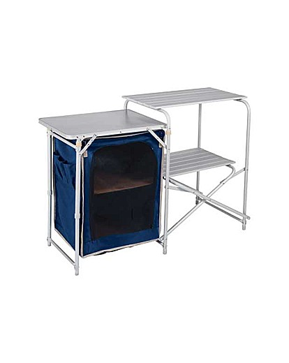 Image of Aluminium Camping Kitchen and Table Set.