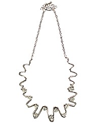 Crystal Squiggle Necklace