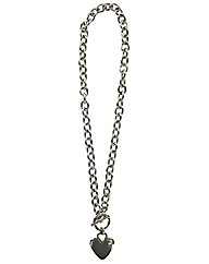Heart T Bar Necklace