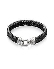Fred Bennett Wide Leather Hook Bracelet