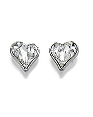 Fiorelli Costume Crystal Heart Earrings
