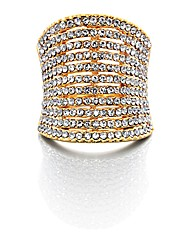 Fiorelli Costume Crystal Cocktail Ring