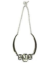 Three Glass Stone Necklace