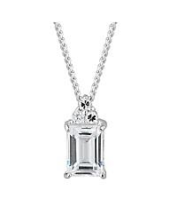 Simply Silver Fancy Baguette Pendant