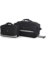 Go Explore 2 Piece Holdall Set - Black.