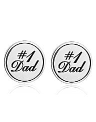 Gents Round #1 Dad cufflinks