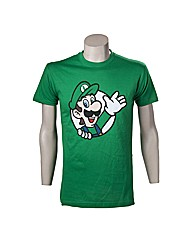 Super Mario Bros Luigi Waving T-Shirt