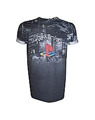 Sony Playstation City Landscape T-Shirt