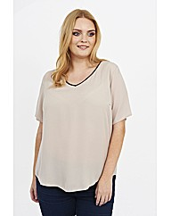 Koko V-Neck Contrast Top