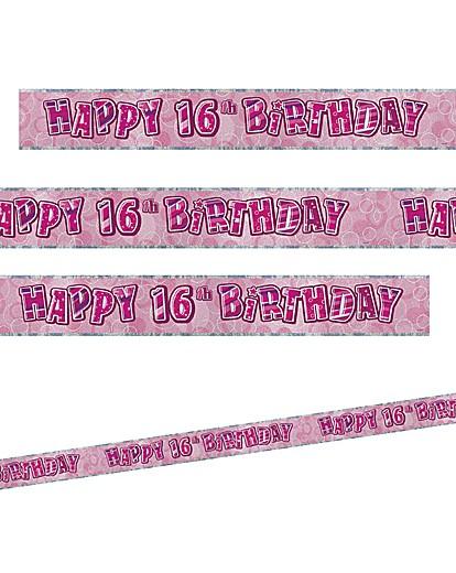 Glitz Birthday Prism Foil Banner Age 16