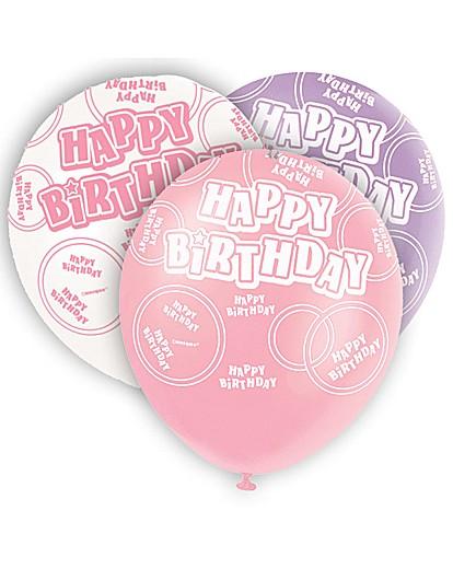 "Image of Glitz 12"" Birthday Balloons x 6"
