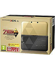 Nintendo 3DS XL Black & Gold Zelda Link