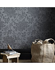 Super Easy Elem Jacquard Charcoal Wallp