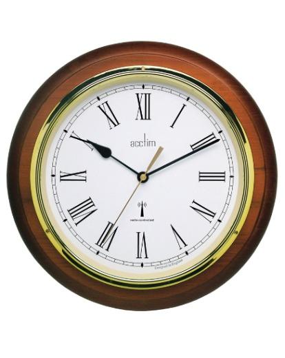 Wooden Radio Controlled Wall Clock Julipa